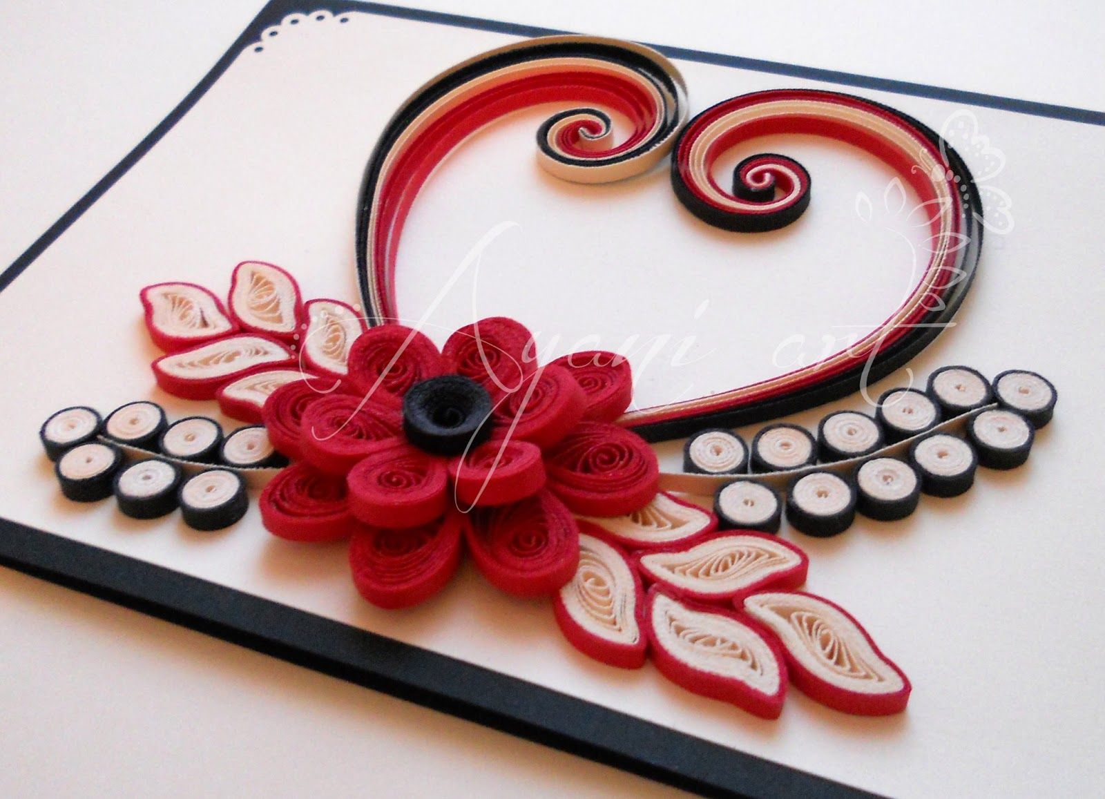 Quilled Valentine Card Quilling Designs Quilling Work Quilling