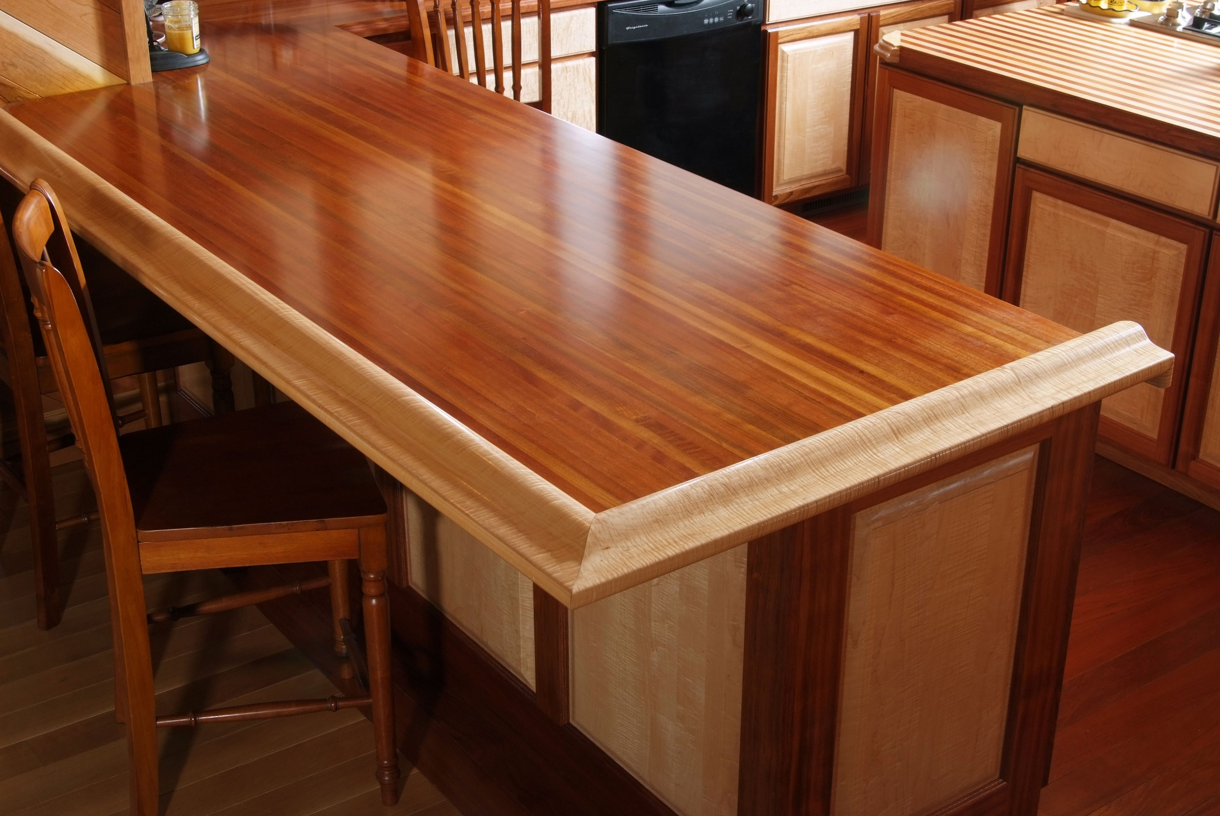 Pin By Baird Brothers Fine Hardwoods On Hardwood Mouldings Hardwood Countertops Brazilian Cherry Maple Bars