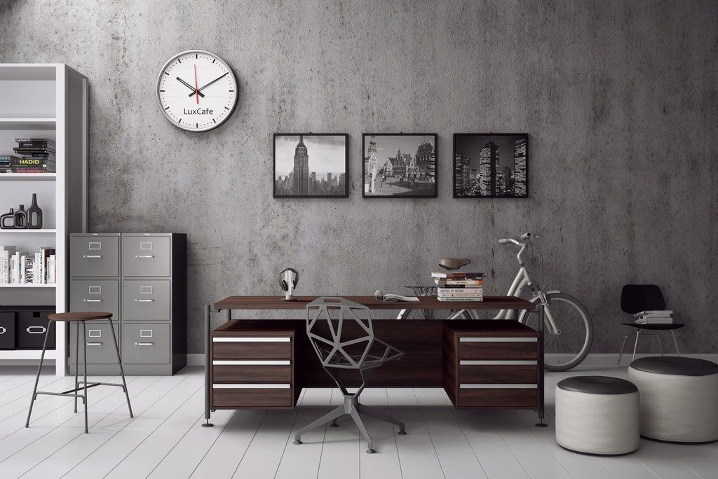 Great A Home Office For Him   Masculine Industrial Style For The Modern Man |  Interior | Pinterest | Workspaces, Industrial Style And Desks