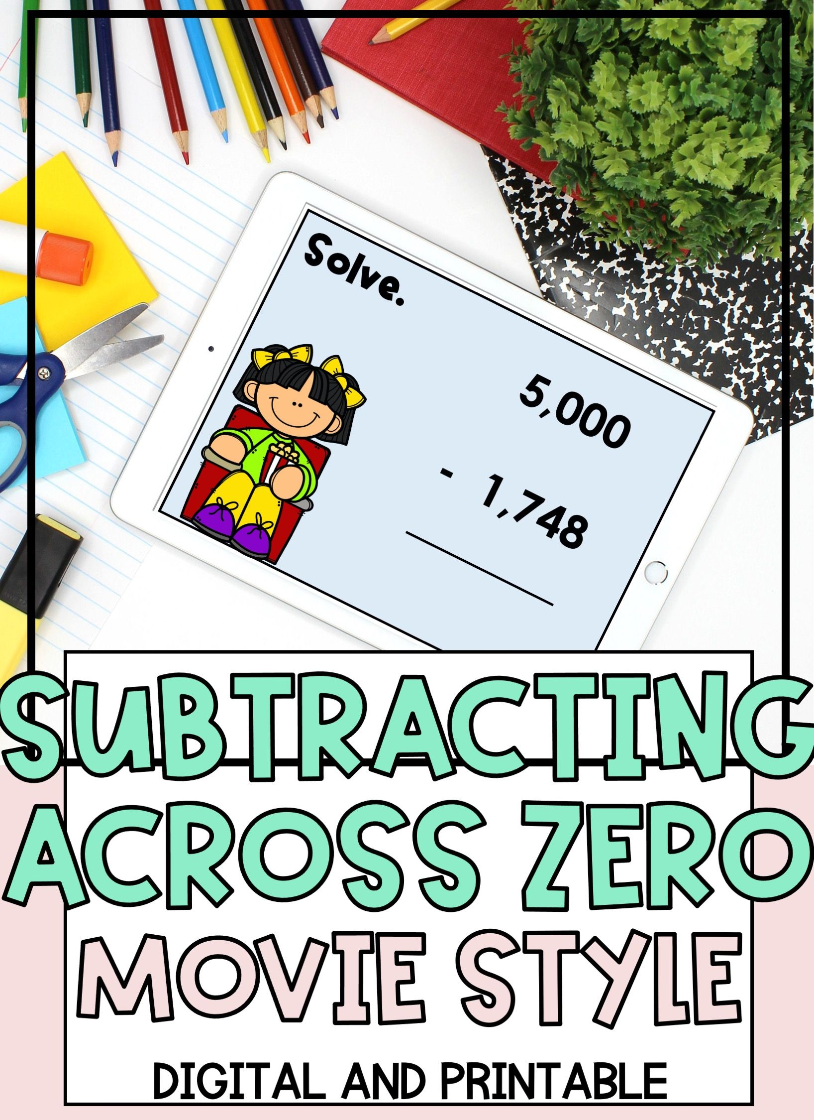 Distance Learning Subtraction Across Zeros Digital And