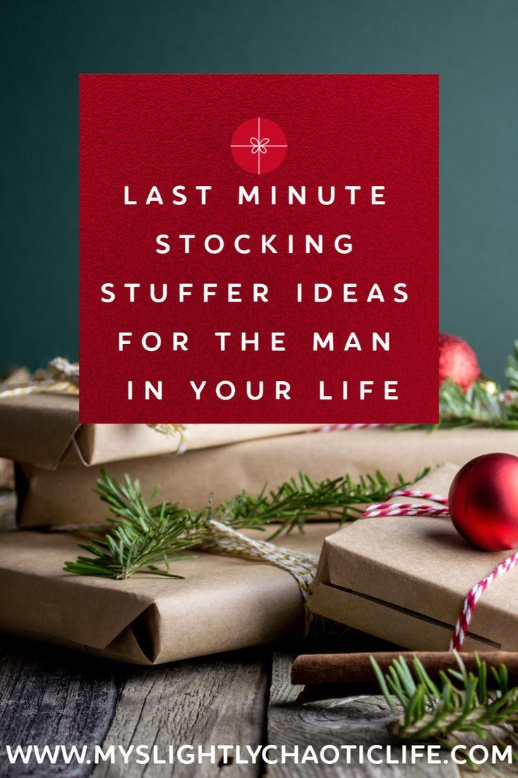 Stocking Stuffer Ideas For the Man in Your Life - My Slightly Chaotic Life