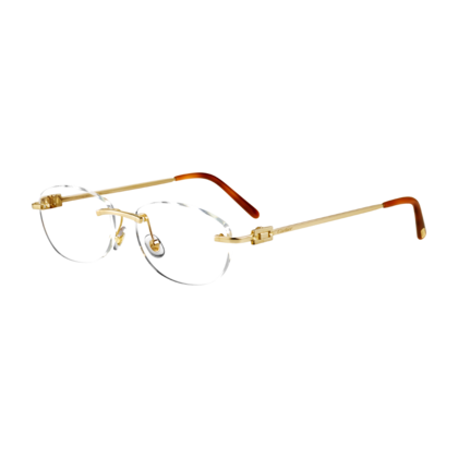 a3de78e96d9 Double C Decor Solid Gold - Yellow gold - Fine Precious glasses for men and  for women - Cartier