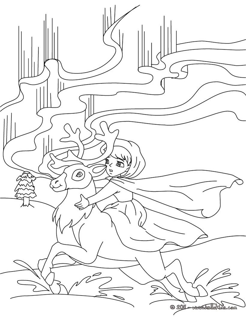 The Snow Queen tale coloring page Coloring Pinterest Snow