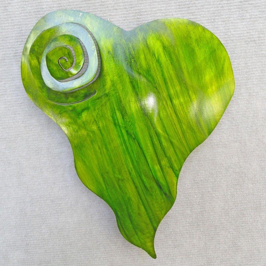Metal heart wall art spiral heart metalphoria buy metal
