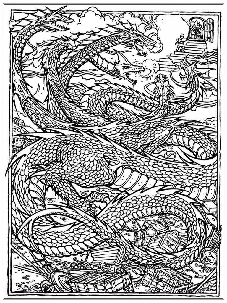 Coloring Pages Licious Dragon Coloring Pages For Adults Chinese Dragon Adult Coloring Pages Realistic Coloring Pages Realistic Dragon Colo Dragon Coloring Page