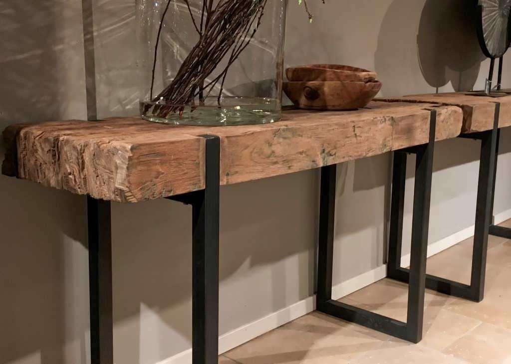 Side Table Oud Teak.Best 12 Teakhouten Sidetable Ferro Skillofking Com
