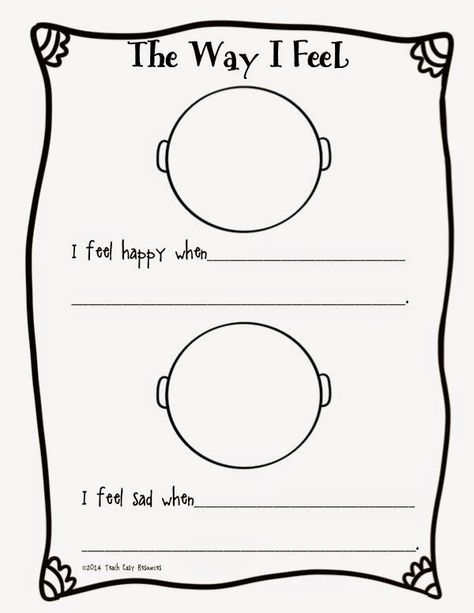 Feelings Worksheet And Mini Book For Pre K To 1 Emotions Preschool Feelings Worksheet Emotion Worksheet Printable preschool feelings worksheets