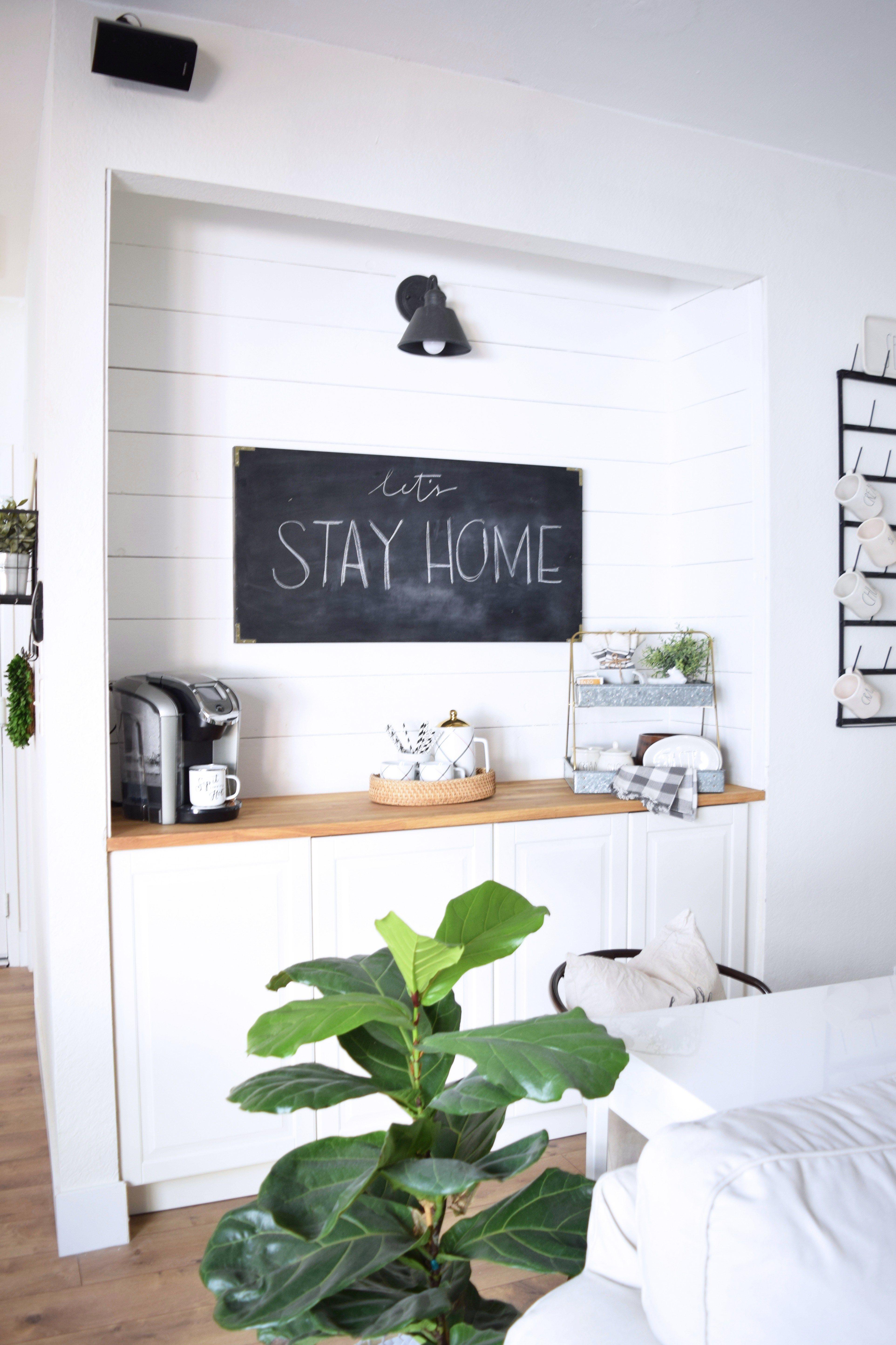 Family room update: the coffee bar | Chalk Board Ideas | Pinterest ...