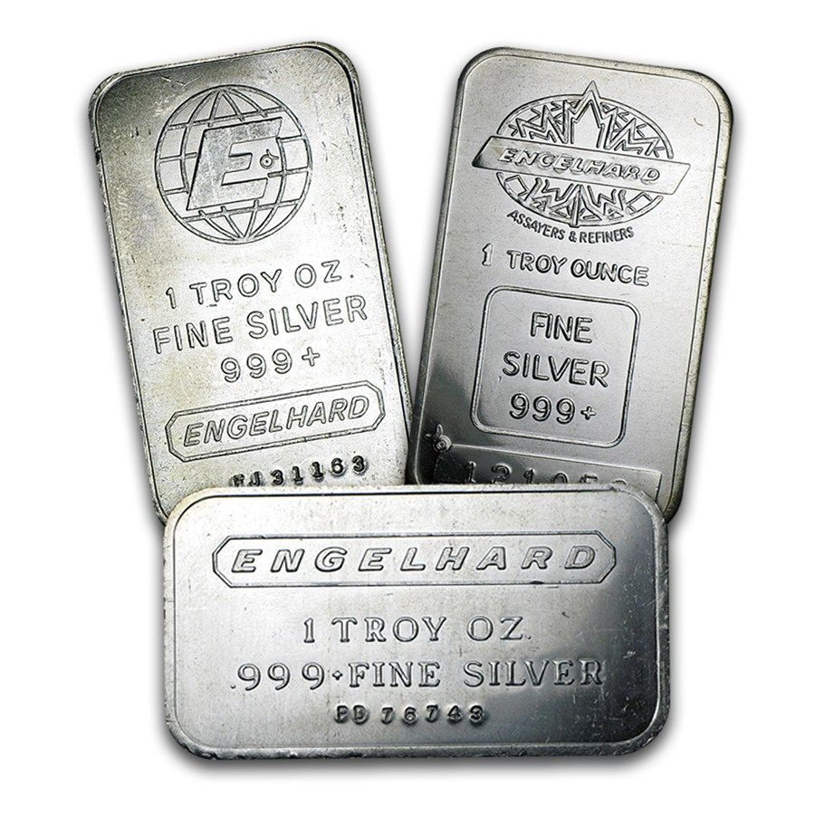 1 Oz Silver Bar Engelhard Silver Investing Silver Silver Bars
