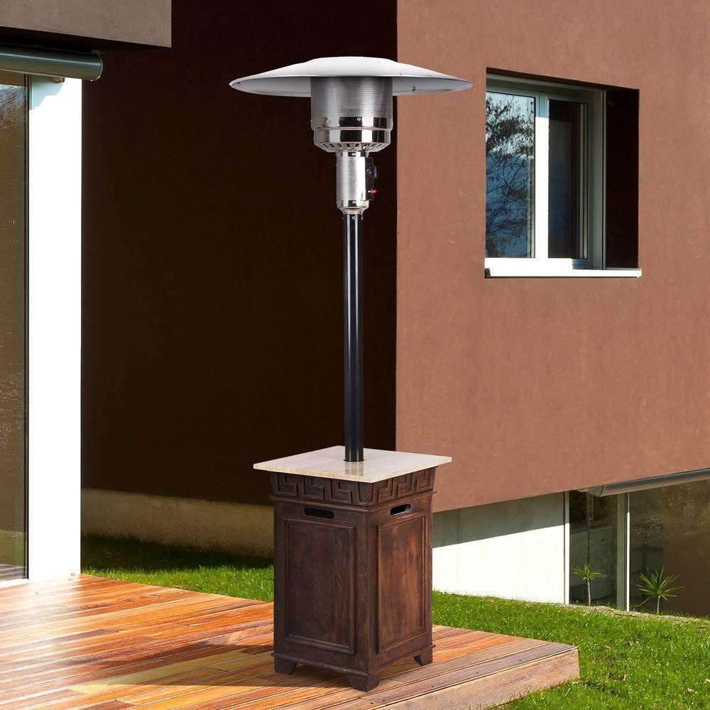 Bond Sonoma Patio Heater Silver Stainless Steel Marble Outdoor DÃ Cor