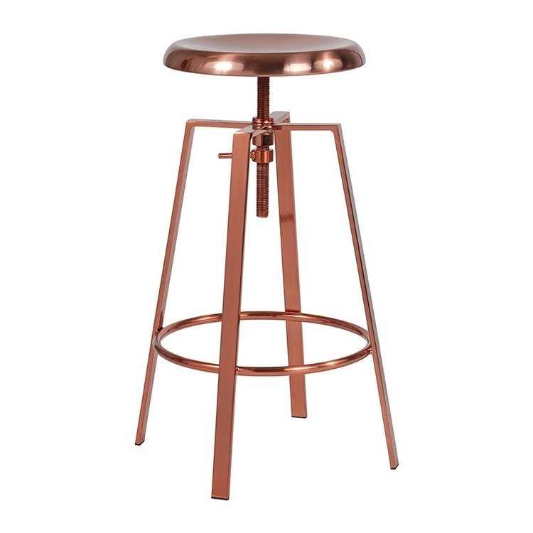 "24/"" Counter Height Stool with Swivel Lift Wood Seat"