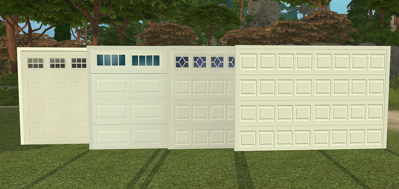 Ns Modern Garage Doors New Meshes Sims 4 Designs Modern Garage Doors Modern Garage Garage Doors