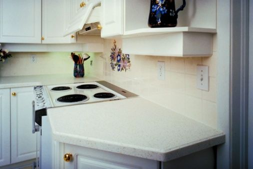 How To Put Formica Over Formica Countertops Hunker Corian Countertops Countertops Countertop Backsplash