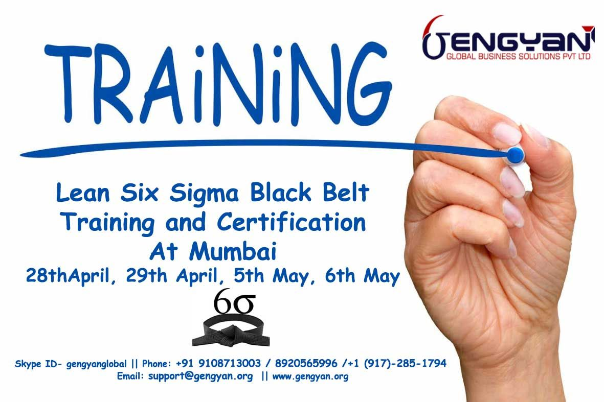 Gengyan announces lean six sigma black belt certification training gengyan announces lean six sigma black belt certification training at mumbai from 28th 1betcityfo Image collections