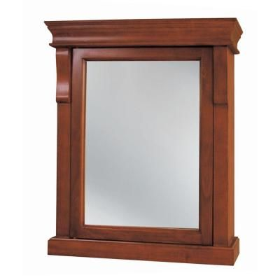 Charming Foremost Naples 25 In. W X 31 In. H X 8 In. D Framed Surface Mount Bathroom Medicine  Cabinet In Warm Cinnamon