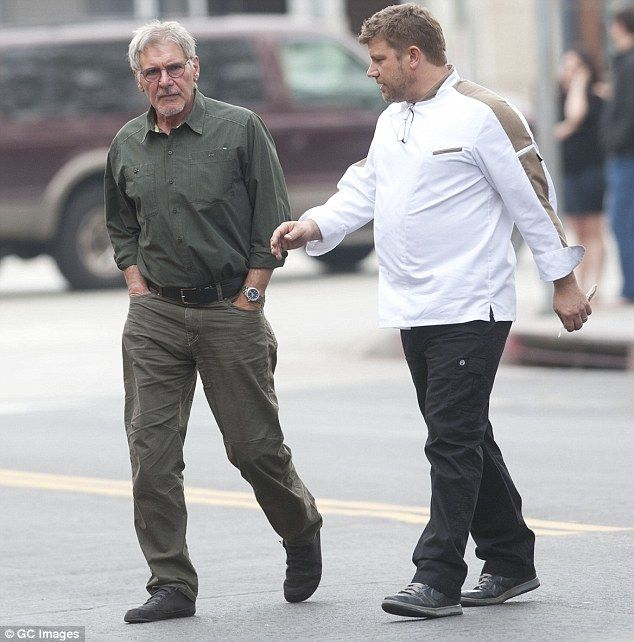 harrison ford shares tender moment with chef son benjamin   harrison