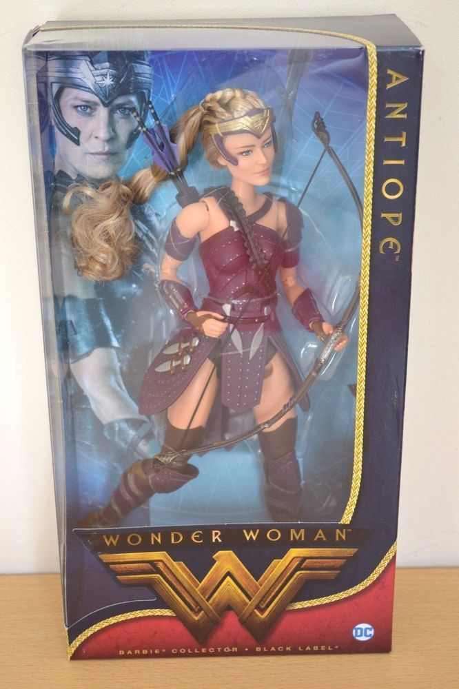 NEW Barbie Wonder Woman Antiope DC Comics Doll Black Label Movie Mattel DWD84