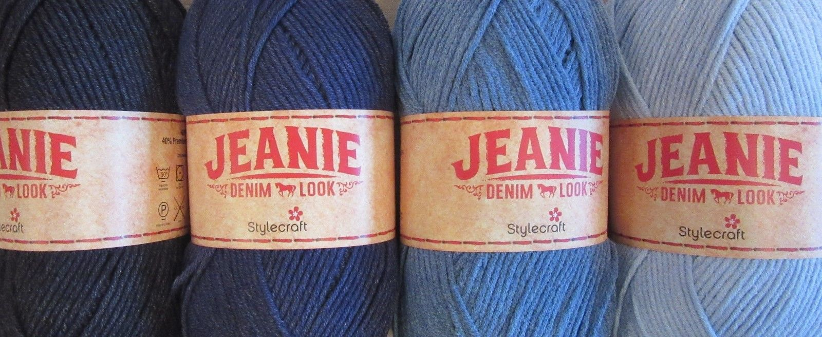 "100g Fashion Yarn. Stylecraft  /""Jeanie Denim Look/"" Aran Knitting Yarn Acrylic"