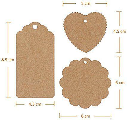 Anpro 120 Piezas Etiquetas De Papel Kraft Etiquetas De Equipaje Etiquetas De Regalo Etiquetas De Papel De Boda Con 30 Metr Handmade Tags Diy Tags Gift Tags Diy
