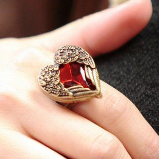 Min. Order $19(mix order) 1054 fashion accessories love ring vintage ruby finger ring female  , #MIN1901 SERIES