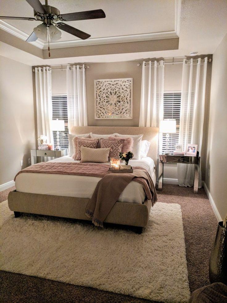Feminine Glam Romantic master bedroom done by Bridget ...