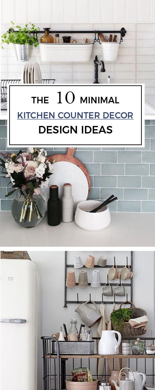10 minimal kitchen counter decor ideas  minimal kitchen