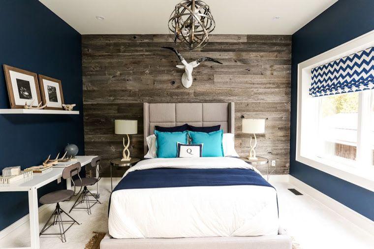Cores na decoração 2- Azul Marinho New home Pinterest Recamara