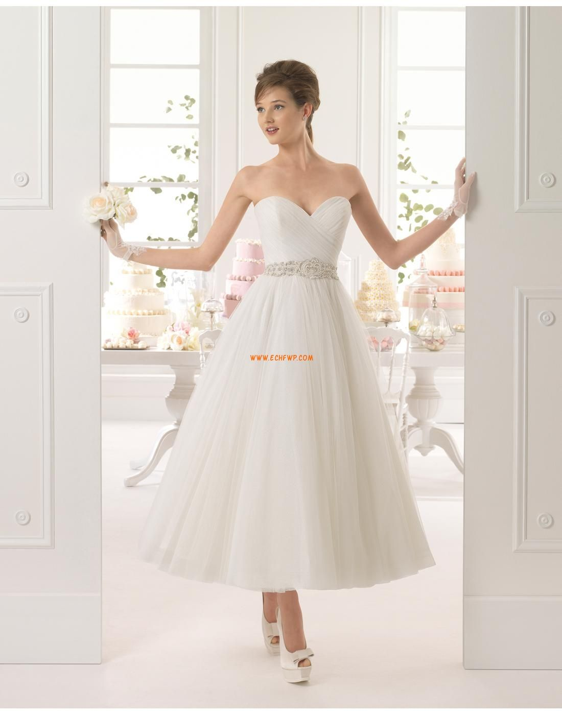 A-Linie Glanz & Glamour Natürlich Brautkleider 2015 | hochzeit ...