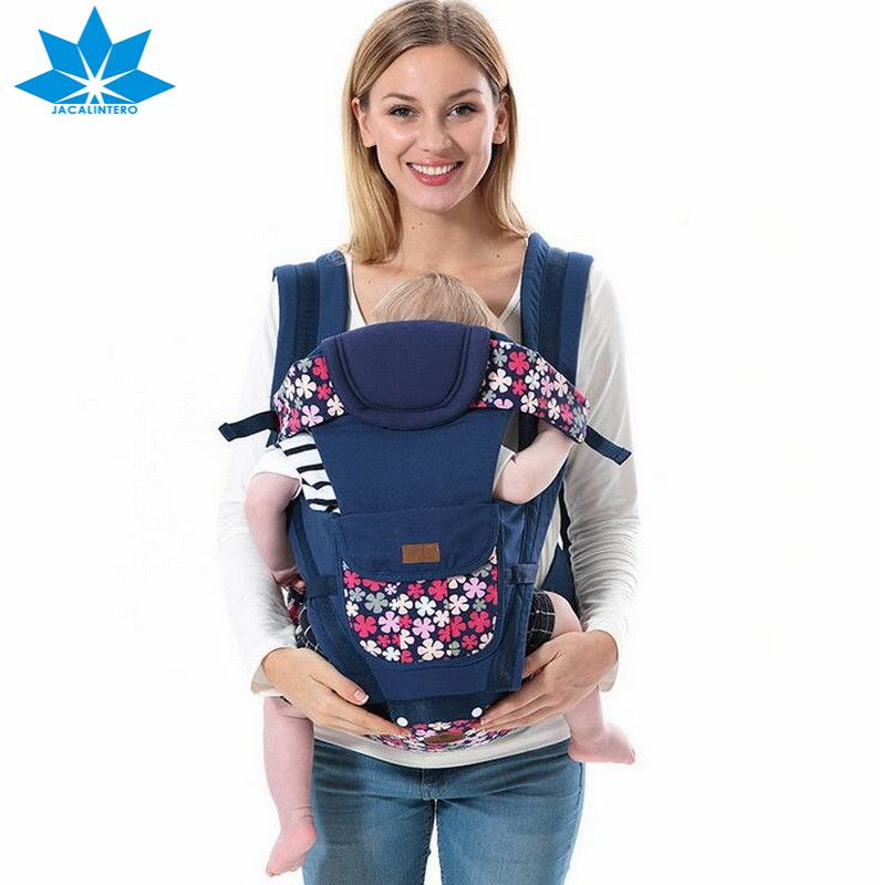 Floral Print 0 36 Months Baby Carrier Infant Toddler Front Backpack