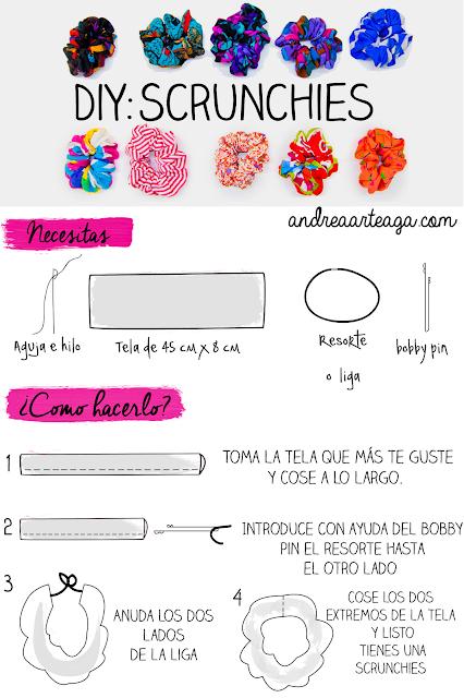 Andrea Arteaga ♡: Formas de llevar una dona para el cabello + DIY | The 90´s Week #scrunchiesdiy