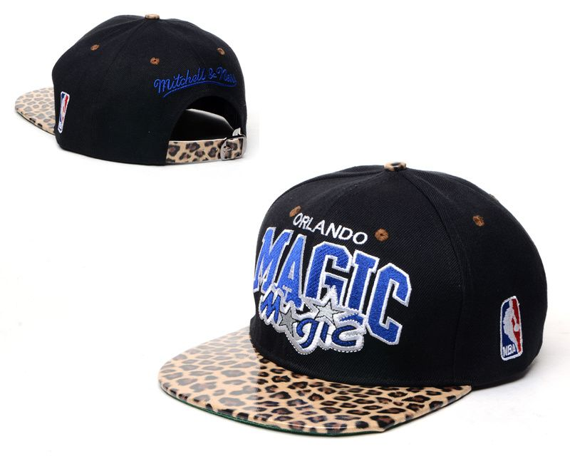 NBA Orlando Magic Snapback Hats Caps Mitchell And Ness Black Leopard Grain  Snakeskin 3009! Only 12f79d77da2