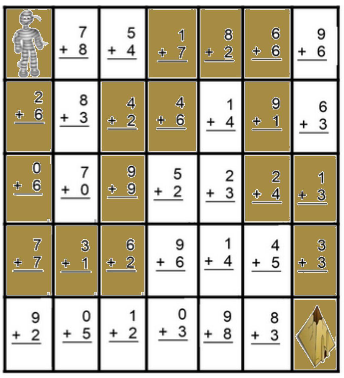 Math MazeAddition Worksheets Math maze, Teaching math, Math