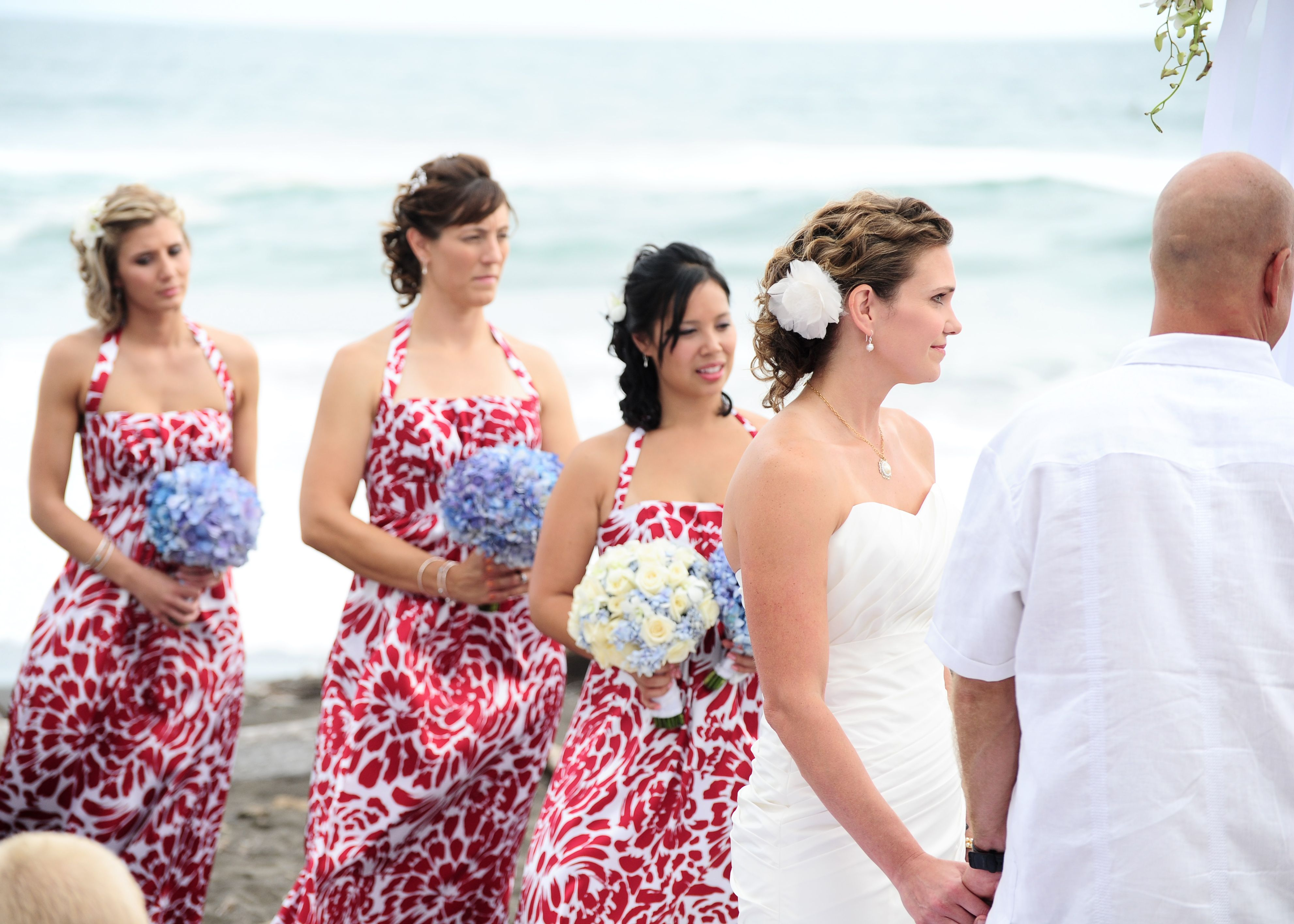 Amazing floral pattern bridesmaid dresses ideas wedding dress love the bridesmaids dresses the red floral pattern against the ombrellifo Gallery
