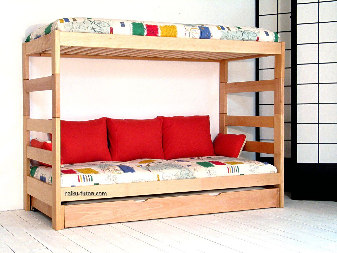 3 litera juvenil de 140cm de altura con cojines de - Cojines para dormitorios juveniles ...
