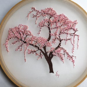 Cherry Blossom Hand Embroidery Hoop Art Pdf Pattern With Etsy In 2021 Hand Embroidery Patterns Flowers Embroidery Hoop Art Hand Embroidery