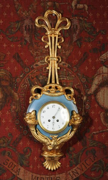 Antique French Cartel Wall Clock Large And Unusual Toleware And Gilt Brass C1900 Antique French Wall Clock Antique Clocks Clock
