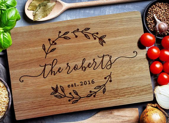 Wood Wedding Gift Ideas: Custom Cutting Board, Personalized Cutting Board, Carving