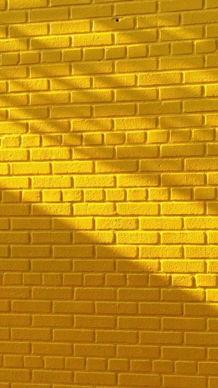 Yellow brick wall | Yellow | Pinterest | Bricks, Wallpaper and ...
