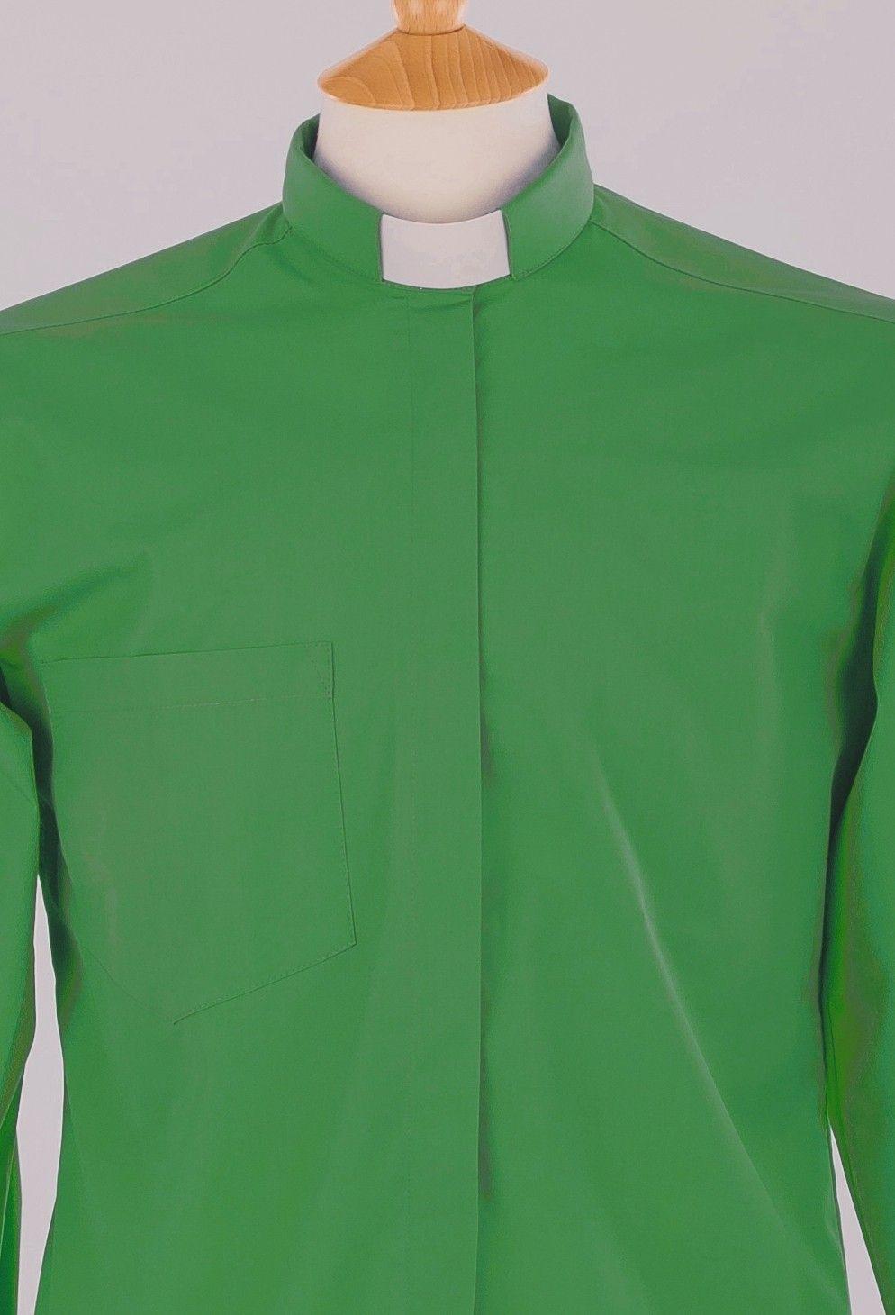 Emerald Green Tunnel Collar Clergy Shirt Carrowmenagh Endofthehols
