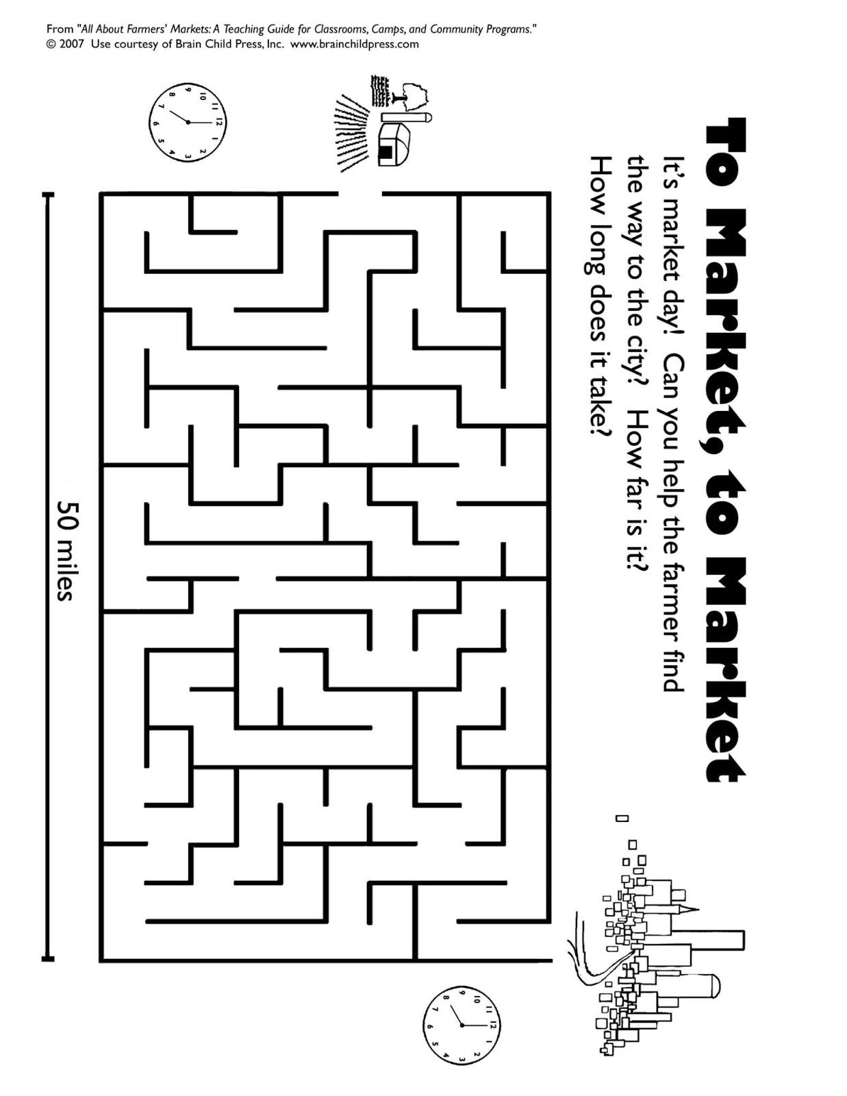 Farmer Market Coloring Sheet Click Here For More