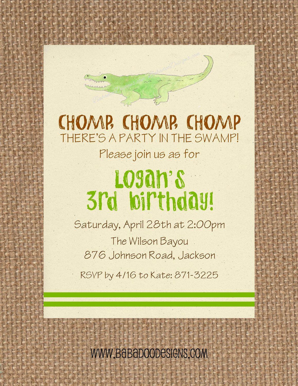 Alligator Swamp Bayou Birthday Baby Shower Gender Etsy Alligator Birthday Parties Swamp Party Alligator Birthday