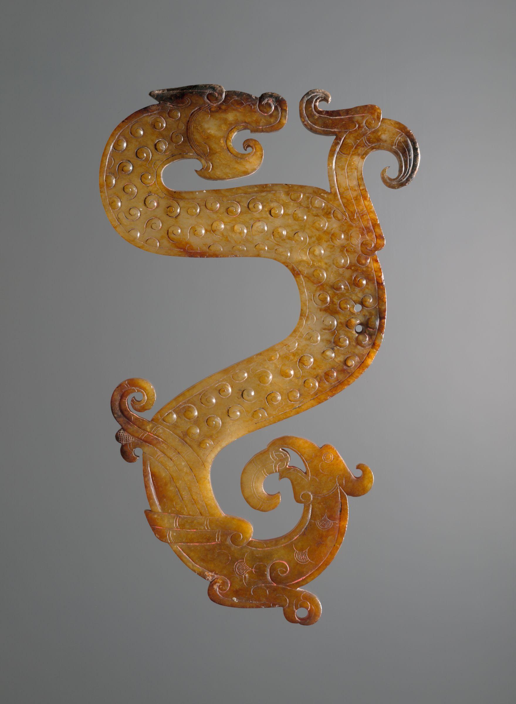 Jade configuration of dragon bird and snake 4th 3rd century bc jade configuration of dragon bird snake v iii bc zhou dynasty warring states period bc china buycottarizona Choice Image