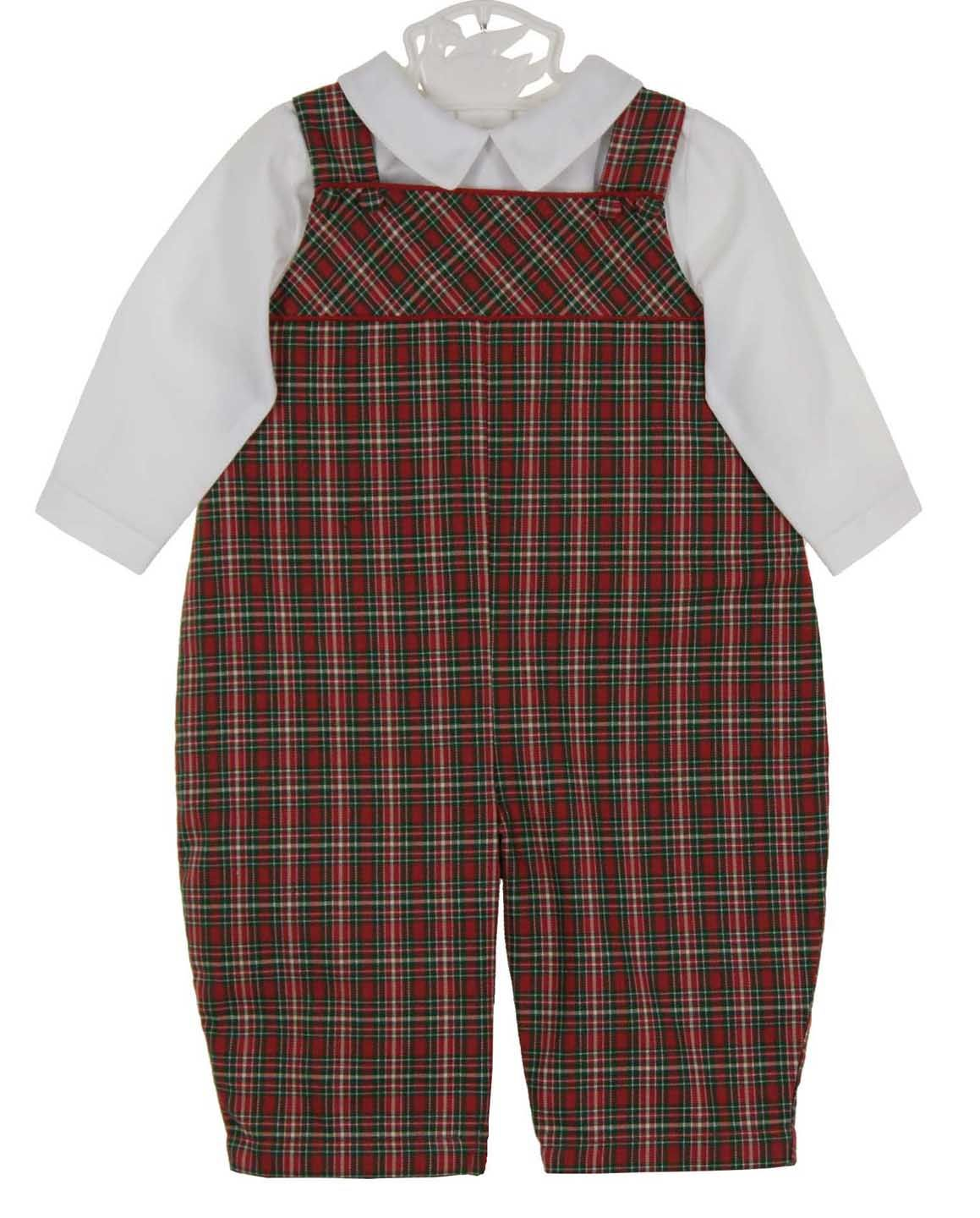 6b1665219a31 NEW Petit Ami Red and Green Plaid Longall with White Shirt $40.00 ...