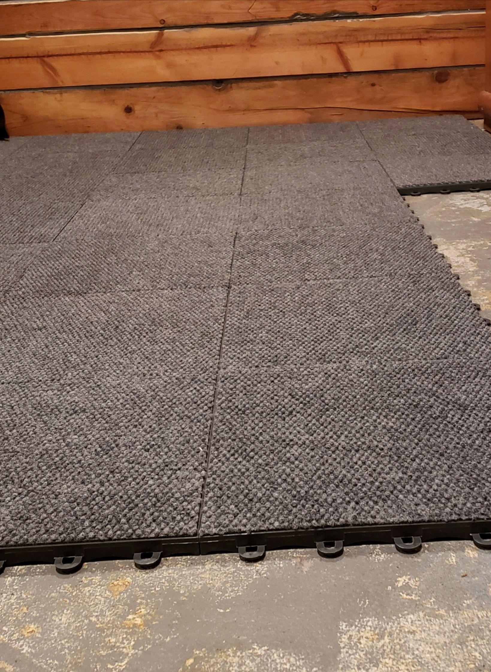 Basement Modular Carpet Tiles With A Raised Lock Togther Base In 2020 Carpet Tiles Basement Carpet Tiles Basement Flooring Options