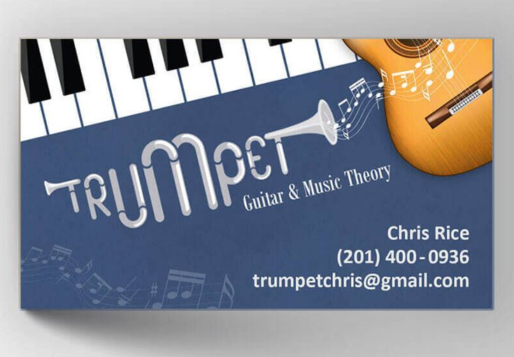 A fun use of custom fonts in this business card design for a a fun use of custom fonts in this business card design for a professional trumpet player reheart Image collections