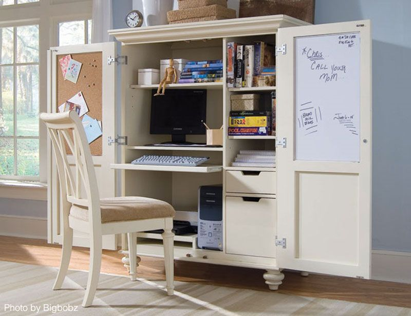 Closets Dressers Or Armoires Can All Turn Into A Home Office As They Did