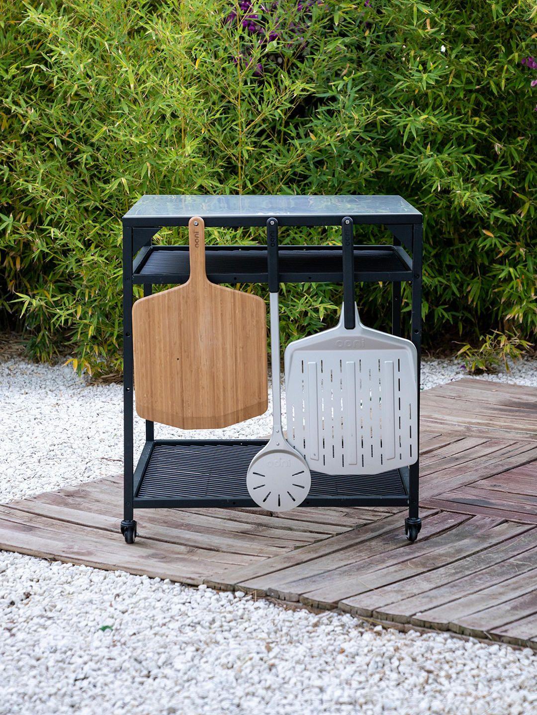 ooni large modular outdoor kitchen table bbq trolley black in 2020 modular outdoor kitchens on outdoor kitchen on wheels id=53512
