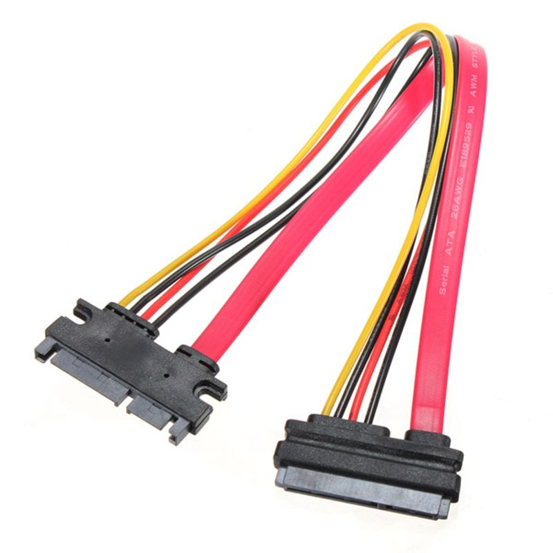 New 7 15 Pin 22P Male To Female Serial ATA SATA Data Power Combo Extension