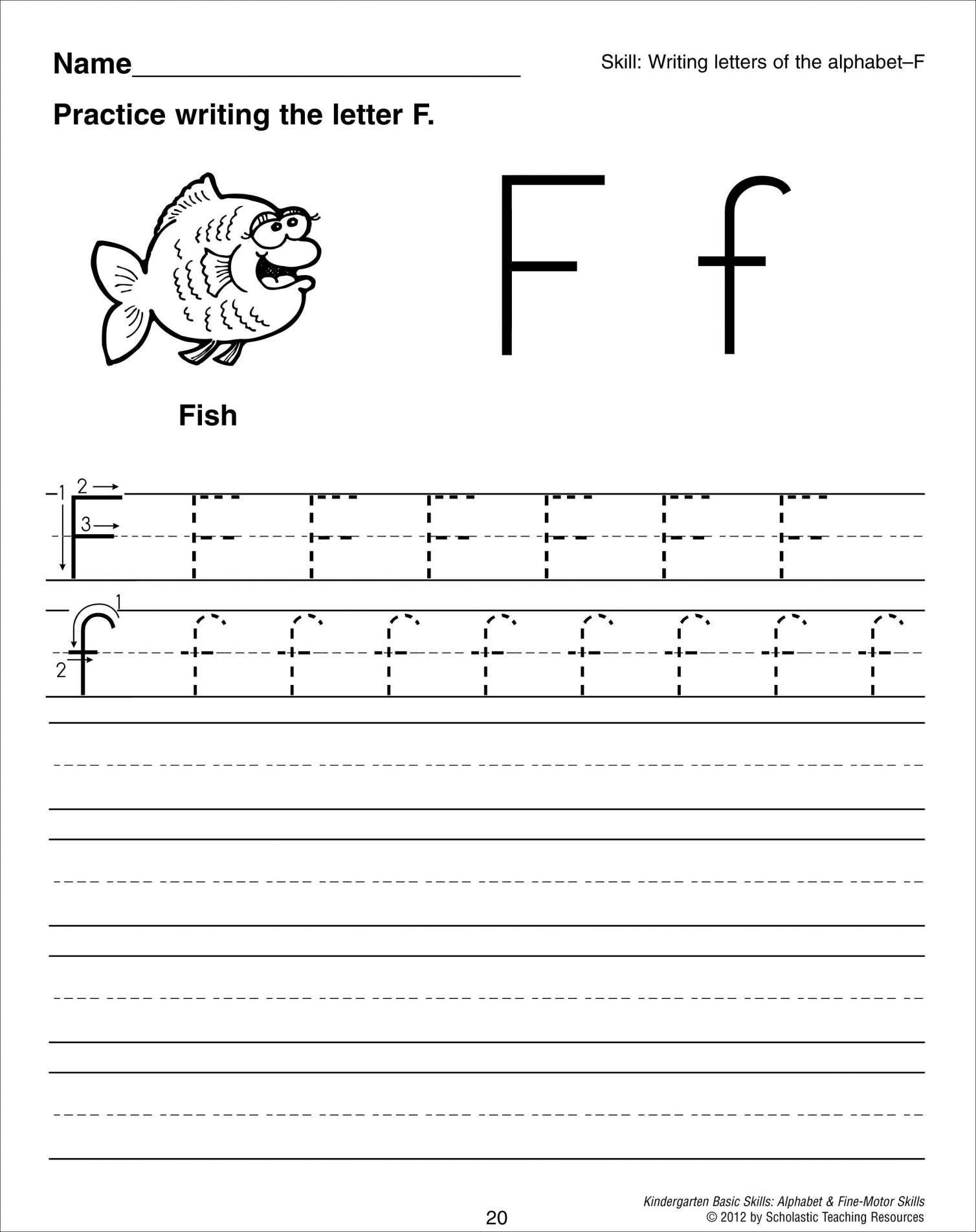 Preschool Worksheet Letter F And Letter F Tracing