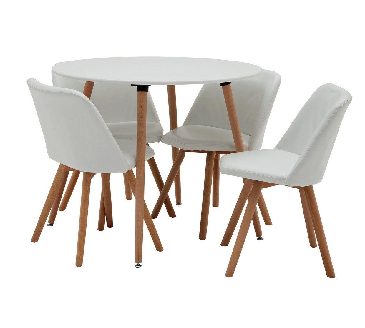 Buy Argos Home Quattro White Dining Table & 4 White Chairs